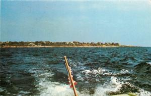 Salem Massachusetts~Baker's Island From the Back of a Flag-Bearing Boat 1966