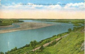 Three state view from War Eagle Grave, Sioux City, Iowa, ...
