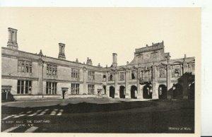 Northamptonshire Postcard - Kirby Hall - The Courtyard N.W - Ref 11458A