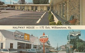 WILLIAMSTOWN , Kentucky , 50-60s : Halfwayway House Motel Restaurant Gas Station