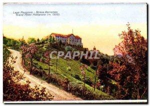 Italy italia Old Postcard Stresa Borromeo Grand hotel Mottarone