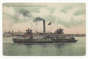 Ferry Ludlow between St.John and West St.John, N.B., Canada, PU-1911