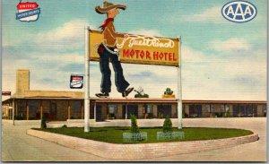 Cheyenne Wyoming Postcard GUEST RANCH MOTOR HOTEL Highway 30 Roadside Linen