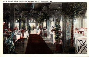 Maine Portland Congress Hotel Main Dining Room