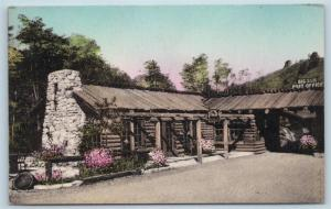 Postcard CA Big Sur Monterey County Dining Room at River Inn Handcolored M04