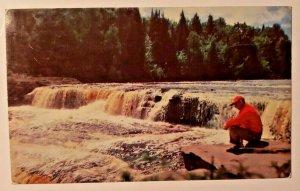 Vintage Postcard Tahquamenon Lower Falls Michigan UP Emerson Paradise Newberry