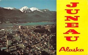 Juneau Alaska~Aerial View~1970 Sidebar Greetings Postcard