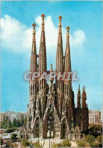 Postcard Modern Barcelona Exp Temple of the Holy Family
