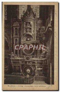 Old Postcard Strasbourg Astronomical Clock of the Cathedral