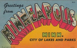 Large Letter MINNEAPOLIS Minnesota, 30-40s ; Version-2