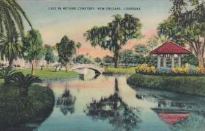 Louisiana New Orleans Lake In Metairie Cemetery