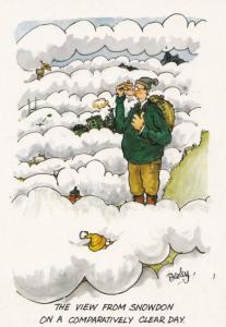 Snowdon Weather On A Beautiful Clear Day Scottish Comic Humour Postcard