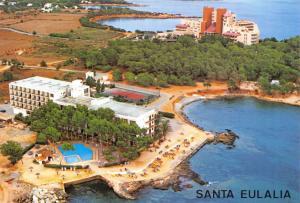 Ibiza Postcard 1985 Hotel Los Loros, Hotel Ses Estaques, Santa Eulalia D96