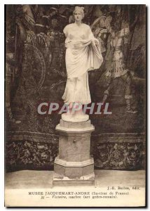 Old Postcard Musee Jacquemart Andre Institut de France marble Victory Roman art