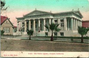 Vtg Postcard c. 1909 Oxnard, California - The Public Library - The Elite Studio