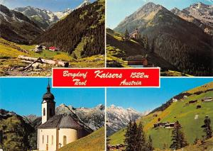Bergdorf Kaisers Tirol, Kirche Church Houses General view Mountains Panorama