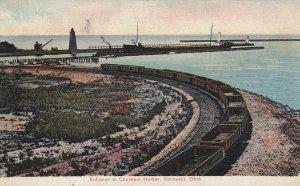 CONNEAUT, Ohio, 1900-1910s; Entrance To Conneaut Harbor, Train