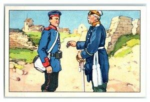 Intelligent Soldier Quips w/ Bismarck Famous Anecdotes Echte Wagner Trade Card