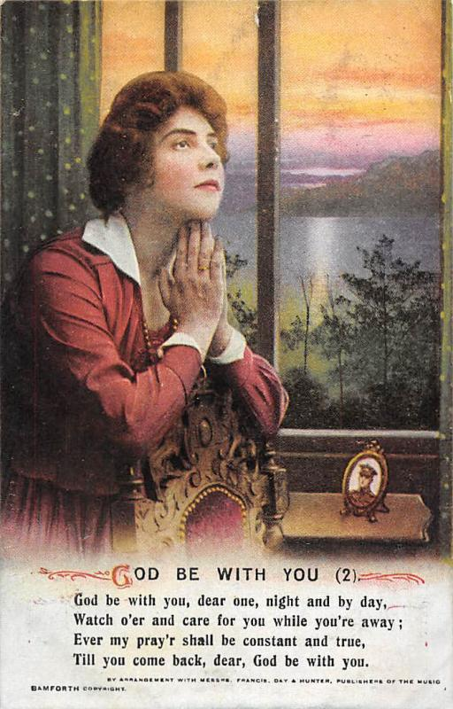 Songs: God be with you (2) dear one, night and by day, Woman Pray