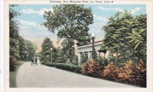 Indiana La Porte Driveway Fox Memorial Park