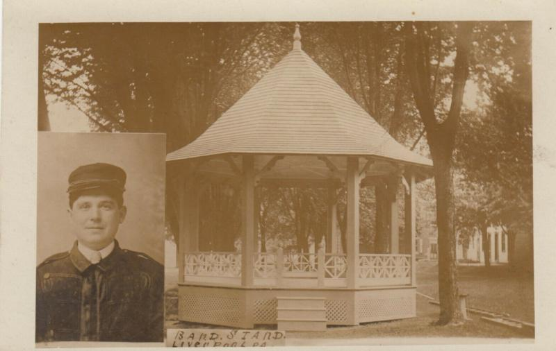 RP: LIVERPOOL , Pennsylvania, 1900-10s ; Band Stand