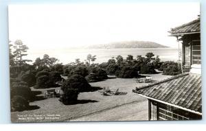 *Garden Inland Sea Maiko Villa Maiko Beach Kobe Japan Vintage Photo Postcard C50