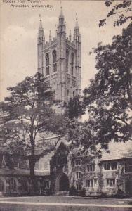 Holder Hall Tower Princeton University  Princeton New Jersey Albertype 1923