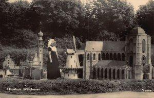 Netherlands Miniatuur Walcheren Miniature Church Mill Postcard