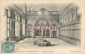 Old Postcard Chateau de Pierrefonds The Hall of Preuses (map 1900)