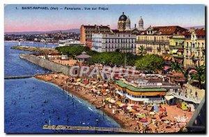 Postcard Old Saint Raphael Frejus Panorama View