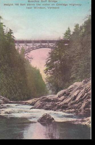 Vermont Windsor Quechee Gulf Bridge Near Windsor Albertype