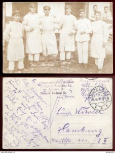 dc1076 - GERMANY MILITARY 1917 Feldpost Soldiers in Hospital Real Photo Postcard