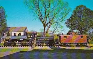 Train Boston & Maine Old Steam Engine & Caboose White River Junction Vermont