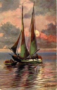 Sailboat - Artist: G. Fuhrmann