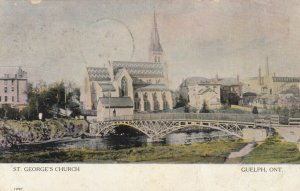 GUELPH, Ontario, 1906; St. George's Church and Bridge