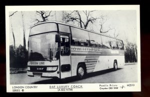 pp2409 - London Country Green Line Bus - DAF Luxury Coach/Pamlin P'card No.M2513