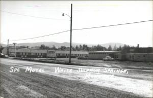 White Sulphur Springs MT Spa Motel Real Photo Postcard