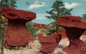 CO - Colorado Springs. Garden of the Gods, Two Mushrooms