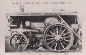 Sheffield Amusements John North & Sons Burrell Engine Councillor 2268 Old Photo