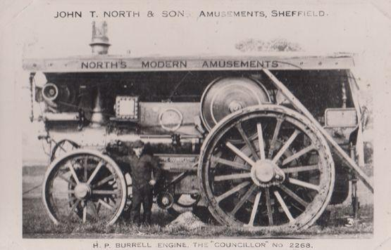 Sheffield Amusements John North & Sons Burrell Engine Councillor 2268 Old Photo