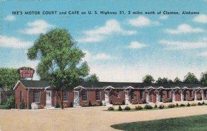 Alabama Clanton Ike's Motor Court U S Highway 31 1952 sk6822