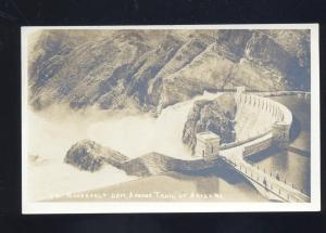 RPPC APACHE TRAIL ARIZONA ROOSEVELT DAM 1922 VINTAGE REAL PHOTO POSTCARD