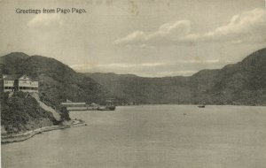 PC CPA SAMOA, PACIFIC, GREETINGS FROM PAGO PAGO, Vintage Postcard (b19482)