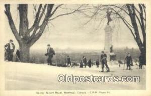 Skiing Mount Royal, Montreal, Canada Ski, Skiing Postcard Post Card Old Vinta...