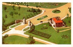 New York Buffalo Mt Calvary Cemetery Aerial View Entrance Gate