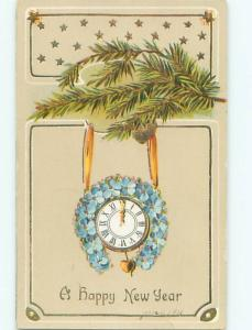 Divided-Back NEW YEAR SCENE Great Postcard AA2124
