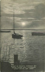 Barnegat Bay Cedars Bible Conference Sunset 1940s Postcard New Jersey 21-2745