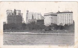 New York City Battery Park and Broadway Private Mailing Card