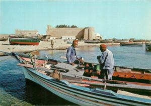Tunisia Hammamet fishing boats fishermen types