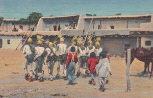 The KOSHARE in the Corn Dance at SANTO DOMINO Indian Pueblo, New Mexico, 1930...